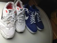 Two pairs of Nike men's trainers