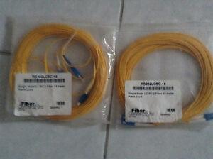 15m Single LC-SC 2 Fiber Patch Cord