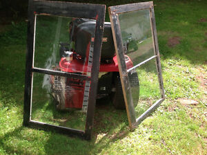 2 OLD  STORM WINDOW FRAMES