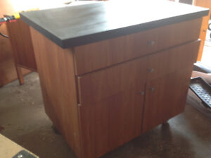 Work table with storage