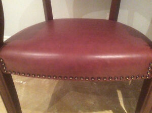2Magagany leather chairs with studs Cambridge Kitchener Area image 3