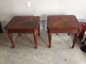 Solid Wood Matching End Tables