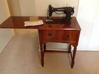 1954 Singer Sewing Machine  & Cabinet