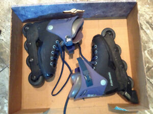 Rollerblades with safety gear