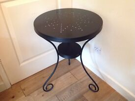 Metal IKEA round occasional table