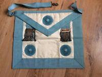 Masonic apron regalia in original box