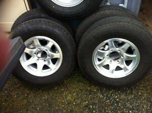 REDUCED! Near NEW-Goodyear Marathon Tires (5) on Rims (4)