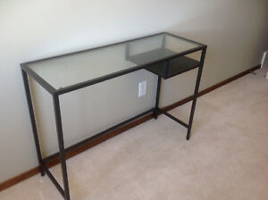 Glass console table/laptop table