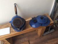 LE Creuset French cast iron saucepans- 3 piece set