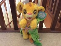 Disney Babies Simba Soft Toy with Removable Blanket