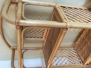 Rattan shelving unit