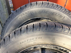 4 15 inch Michelin Winter Tires with rims.  Like new