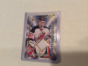 RARE MARTIN BRODEUR NHL JERSEY HOCKEY CARDS