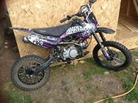 Super stomp140cc cr85 size frame pitbike