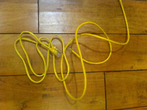 6' Cat5E ethernet cable - yellow