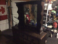 Solid cherry wood dresser with mirror
