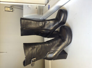 Harley Davidson leather heel boots