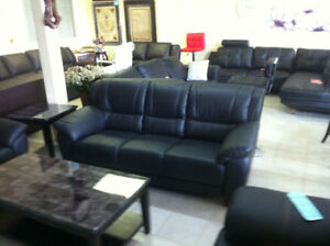 Top grain real leather sofa