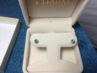 Stunning Blue Coloured Dimond Earing