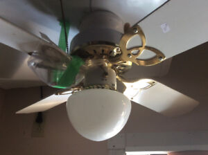Ceiling Lights and Fan
