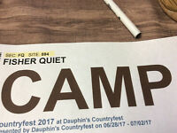 Camping pass Dauphin country fest 2017