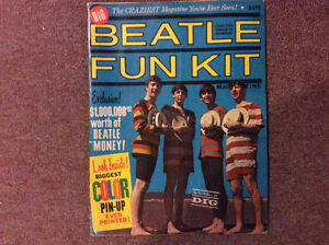 Rare all intact 1964.Beatle Fun Kit Magazine with Centre Pin Up