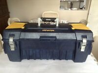 Large Sturdy Tool Box 70cm X 30cm X 30cm Good Clean Condition