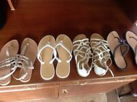 High Quality sandals beach shoes all size 4 As New M and S Nine West New Look 915