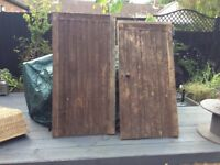Wooden garden gates with lock and key