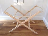 Clair de Lune Folding Moses Basket Stand *Like New*