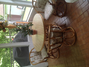 Bamboo Table & Chairs