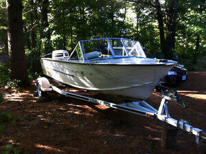 Aluminum boat motor & trailer
