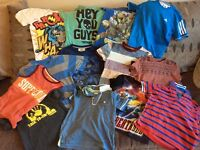 Bundle of boys clothes 26 items, shorts, t-shirts, trousers & jumpers