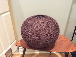 Brown lamp shade