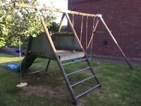 TP child's timber swing and slide combo