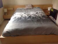 Ikea king size bed with mattress