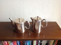 Silver plate tea and coffee pot