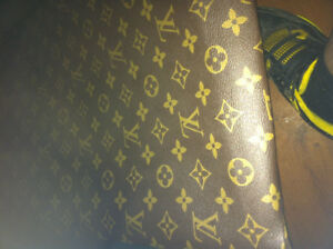 Louis Vuitton monogram vinyl fabric 36x54inches