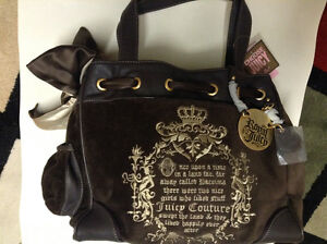 NEW w/tags: Authentic Juicy Couture Velour Daydreamer Bag/Purse