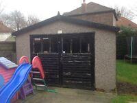 Large detached garage for sale