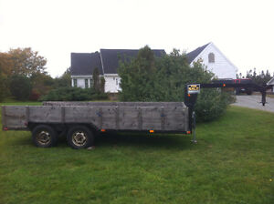 17' flat deck 5th wheel trailer, and gooseneck, interchangeable.