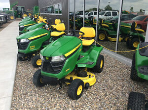 JOHN DEERE X SERIES 2015 LAWN TRACTOR BLOW OUT SALE ENDS MAY 31