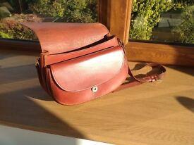 Hand made leather ladies saddle shoulder bag