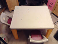 Used step 2 table and chairs
