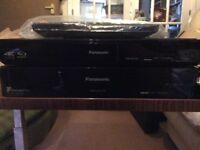 4K Panasonic Blu-ray player plus freeview box