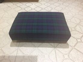 New Tartan Footstool