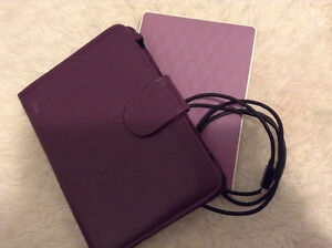 Kobo Touch 1.0 with Purple Quilted Back + Purple Case + USB Cord