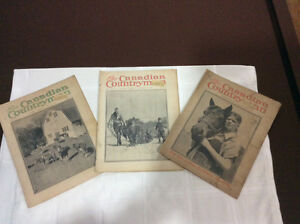 The Canadian Countryman (3 issues) 1942, 1949, 1950