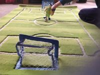 Luxury new football rug with finger puppets, play mat, soft table football!