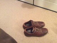 Clarks casual leather shoes size 7